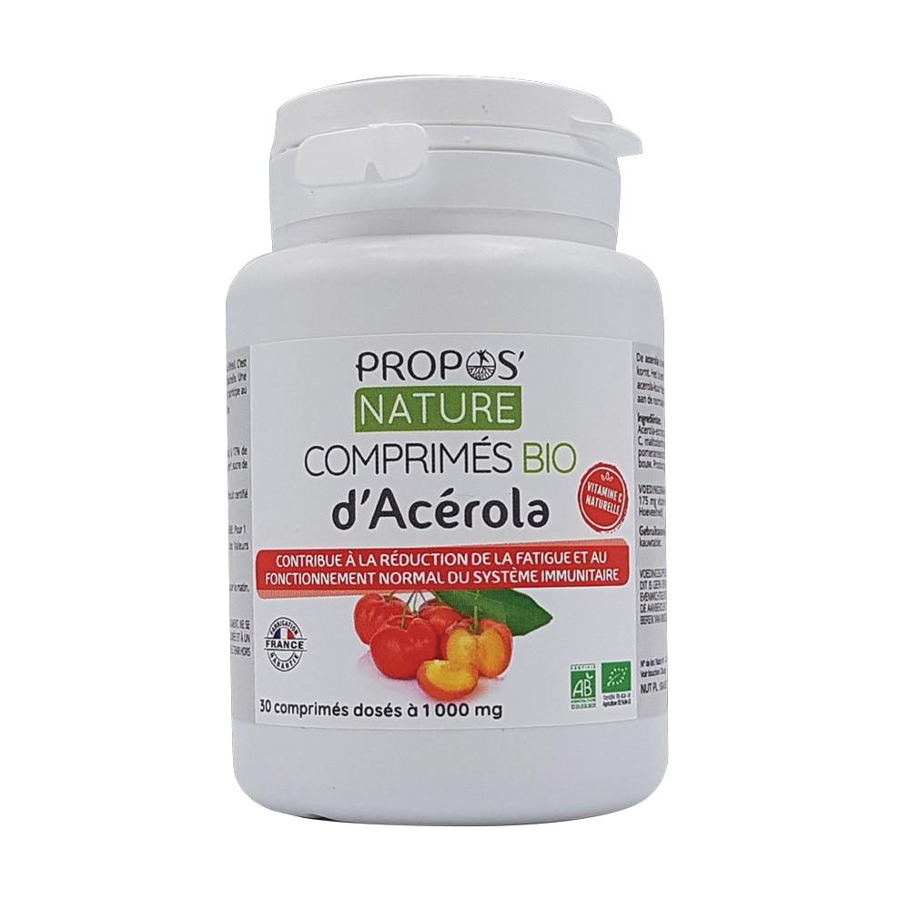 Propos'Nature - Comprimés d'Acérola Bio (30 comprimés)