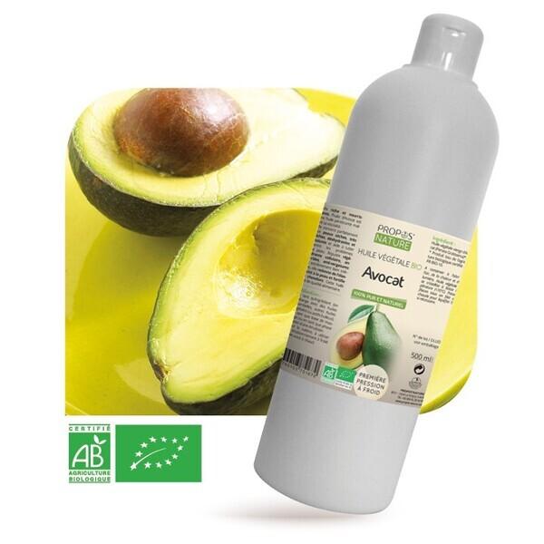 Propos'Nature - Avocat BIO (AB) - Huile végétale vierge Contenance - 500 ml