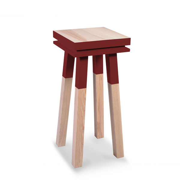 Mon petit meuble français - Stèle Guéridon 100%  frêne massif 40x40 cm