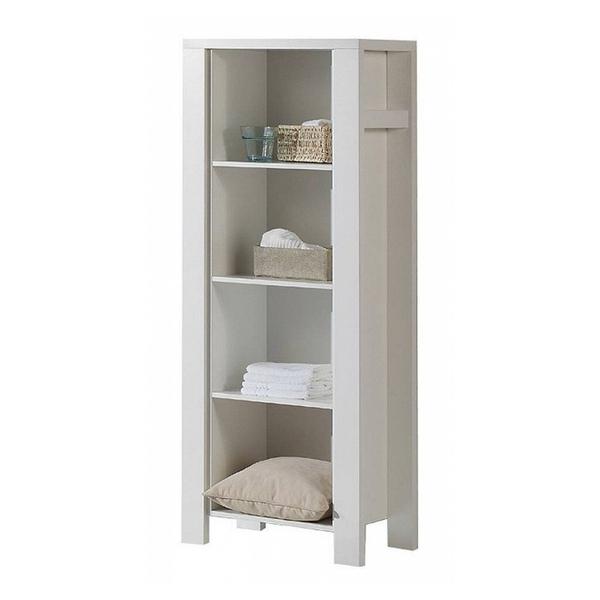 Schardt - Bibliothèque 4 niveaux bois laqué blanc Milano White L 67 x H