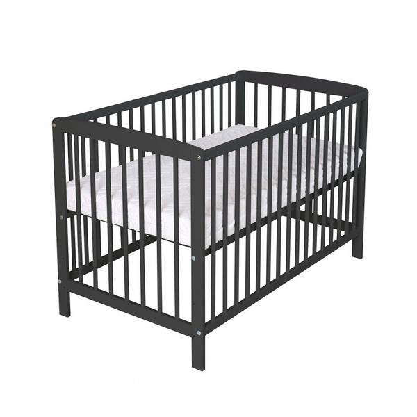 Schardt - Lit enfant à barreaux Felix bois noir 60x120 cm