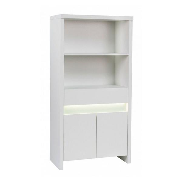 Schardt - Bibliothèque 2 portes bois laqué blanc Planet White L 77 x H