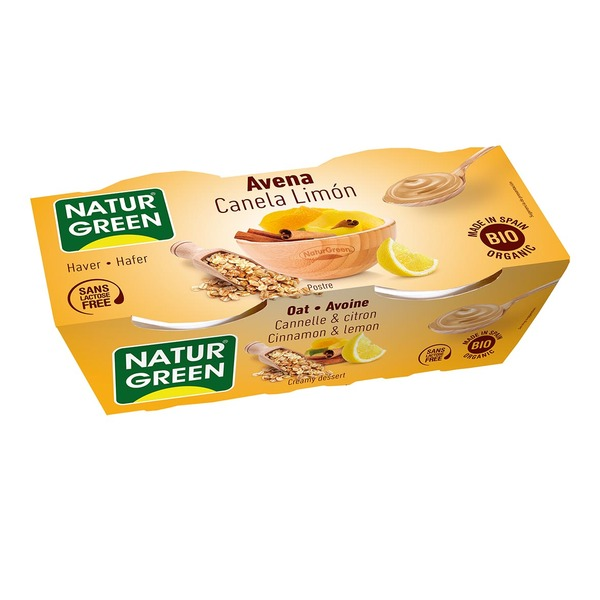 NaturGreen - Dessert Avoine Cannelle-Citron 2x125g Bio