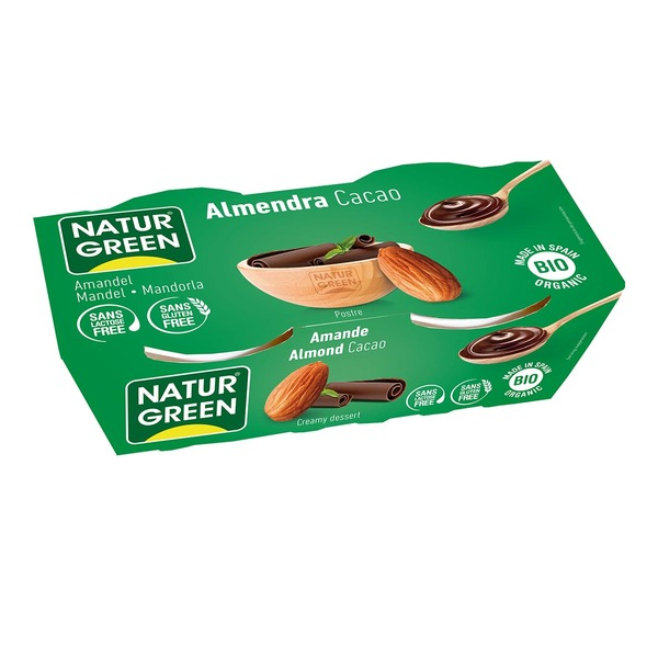NaturGreen - Dessert aux Amandes Cacao 2x125g Bio