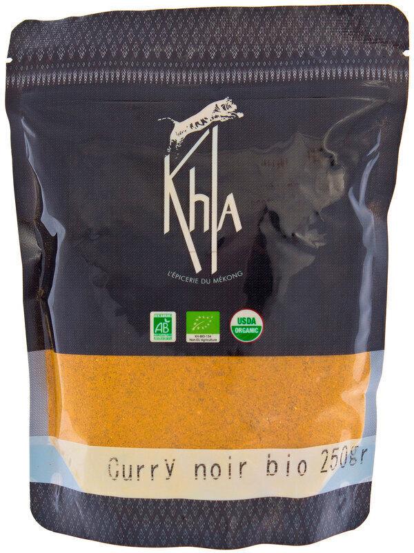 Khla - Curry noir en poudre - en vrac - 250 g