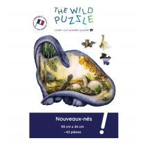 The Wild Puzzle - Nouveaux Nes 42P Puzzle en bois Dinosaure