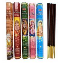 HEM - Assortiment d'encens Bouddhisme Hindouisme (5 parfums). Lot de 1