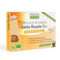 Propos'Nature - Gelée Royale BIO - 1500 mg (certifié AB) - 10 amp