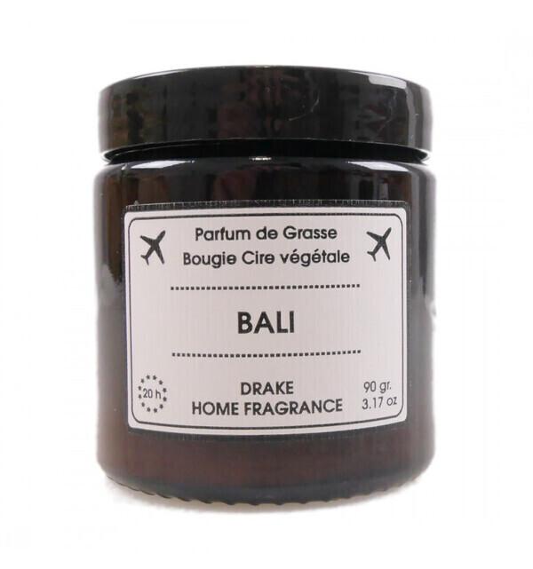 Drake Home Fragrances - Bougie parfumée naturelle, senteur Bois de figuier Jasmin 90g /