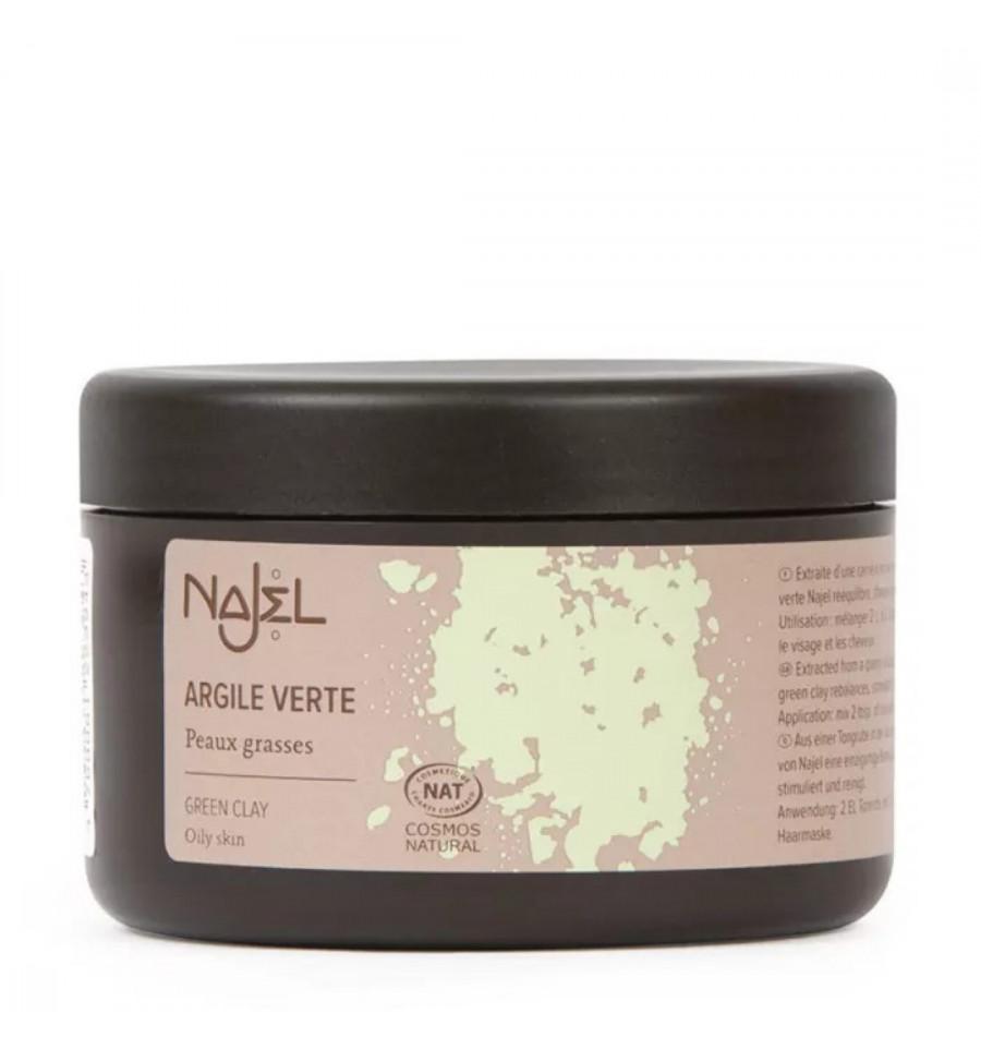 Najel - Argile Verte en poudre, masque corps visage et cheveux pour peau