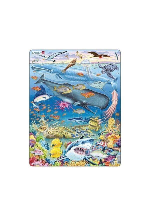 Achat nature - Puzzle larsen Vie sous marine