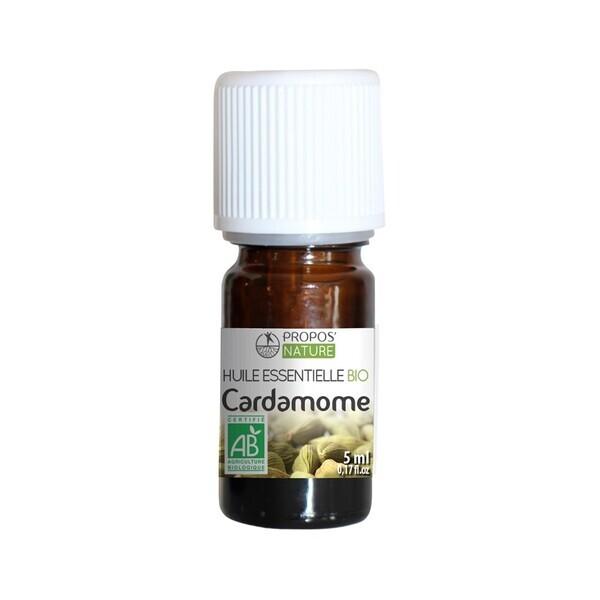 Propos'Nature - Cardamome BIO (AB) - Huile essentielle - 5 ml Con