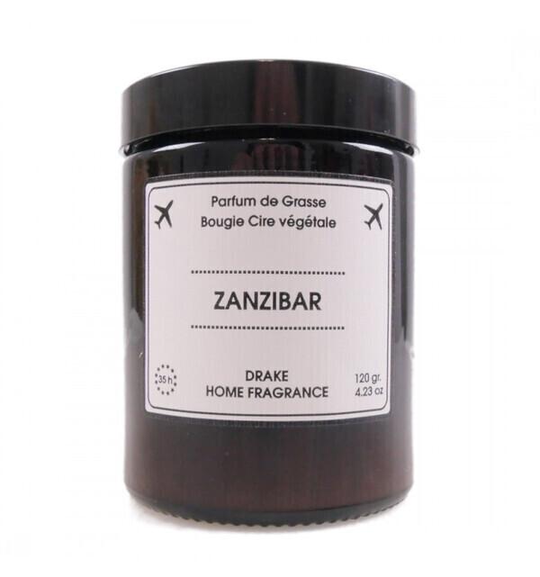 Drake Home Fragrances - Bougie parfumée naturelle, senteur Jasmin chypré 120g / 35h ZANZ