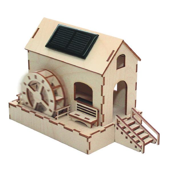 Sol-expert - Kit moulin à eau solaire en bois