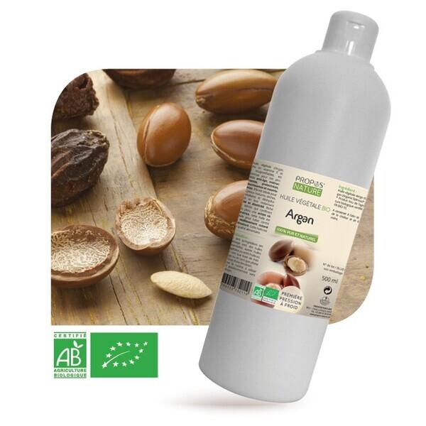 Propos'Nature - Argan BIO (AB) - Huile végétale vierge Contenance - 500 ml