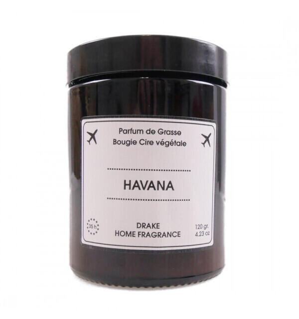 Drake Home Fragrances - Bougie parfumée naturelle, senteur Bois de Cèdre 120g / 35h HAVA