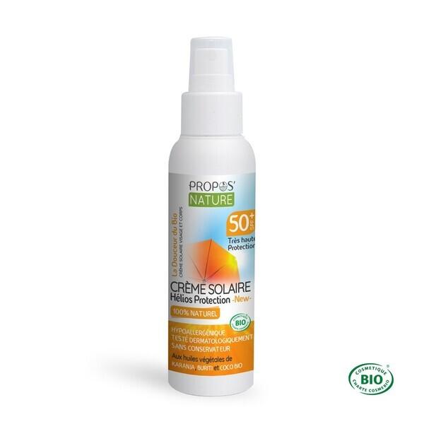 Propos'Nature - Crème Solaire Hélios BIO SPF 50+ Très haute prote