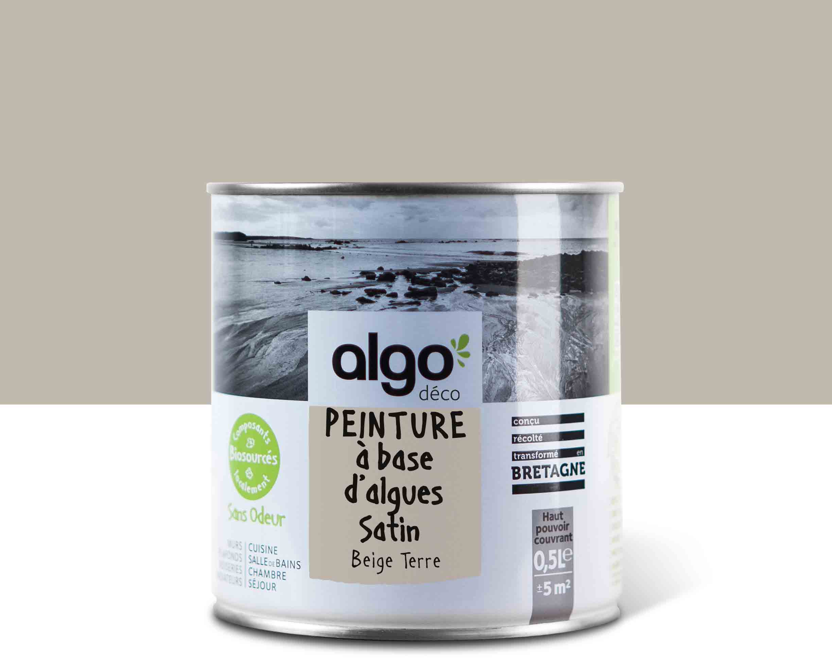 Algo Peinture - Beige Algo à base d'algues 100% naturelles (Beige terre)