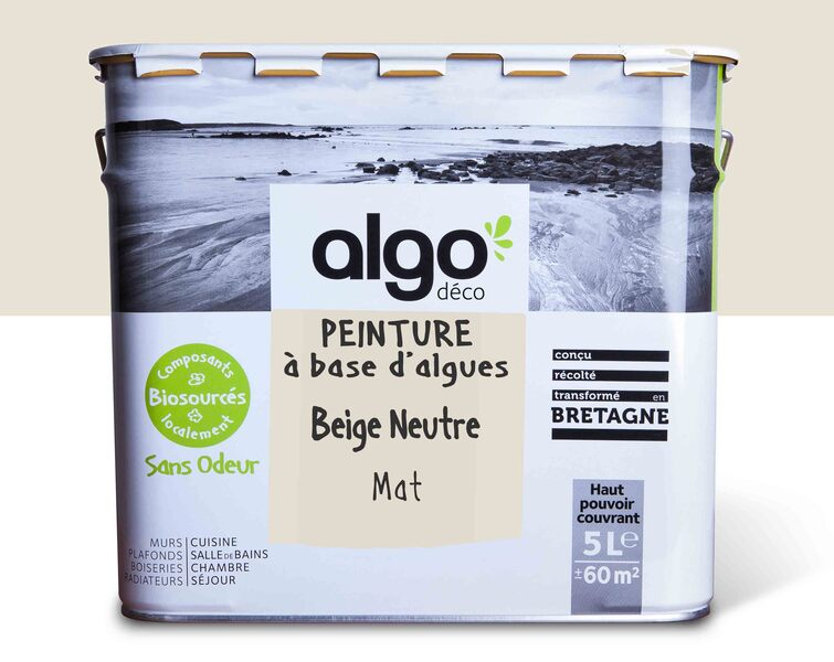 Algo Peinture - Beige Algo à base d'algues 100% naturelles (Beige neutre)