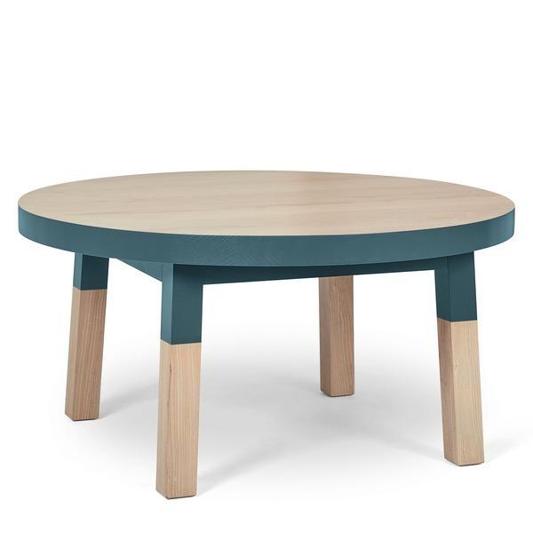 Mon petit meuble français - Table basse ronde 100% frêne massif 100x100 cm