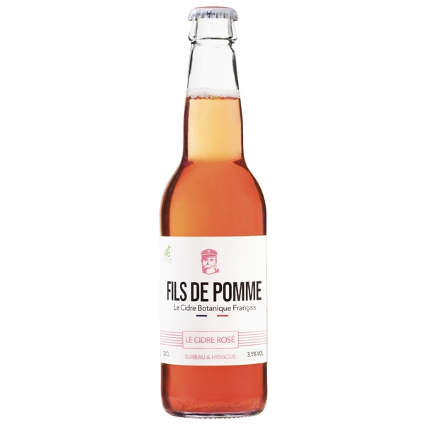 Fils de Pomme - LE CIDRE ROSÉ BIO  - LA COQUETTE (12X33CL)