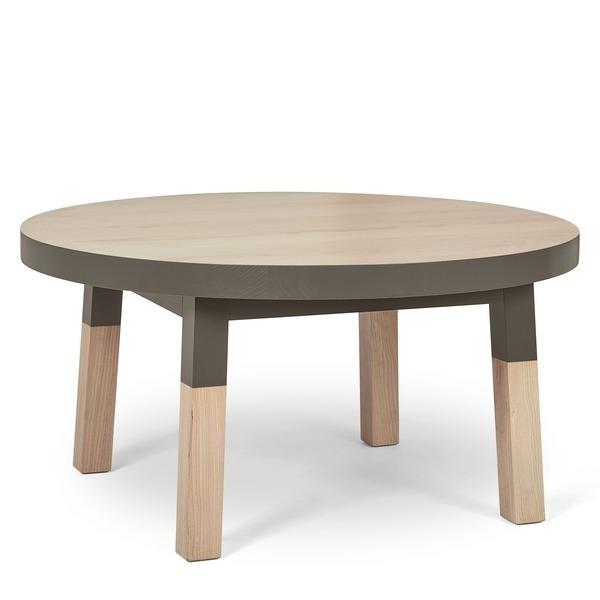 Mon petit meuble français - Table basse ronde 100% frêne massif 70x70 cm