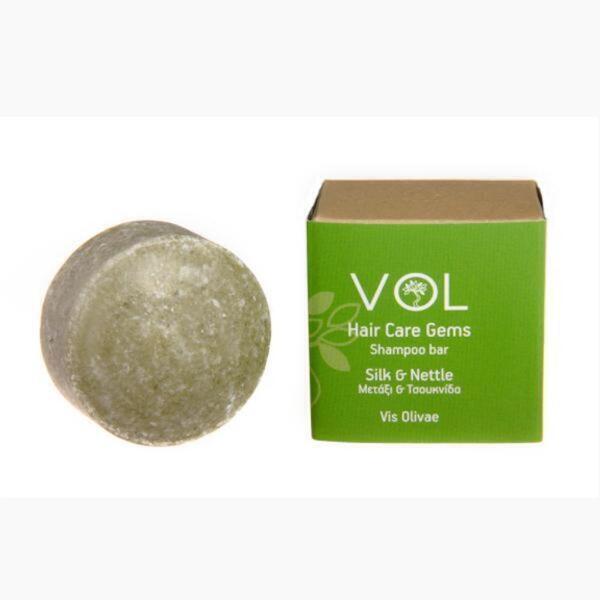 Visolivae - Shampoing solide au lait de soie et aux orties pour cheveux gras