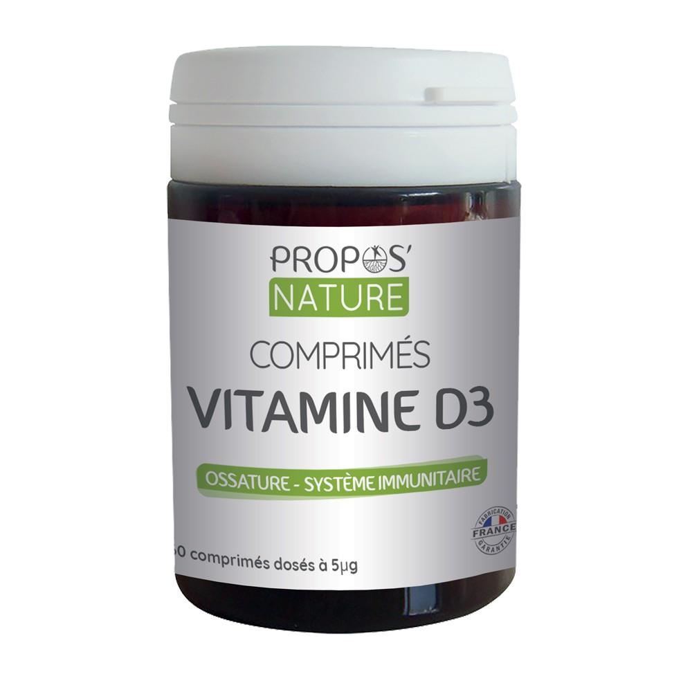 Propos'Nature - Comprimés de Vitamine D3 (60 comprimés)