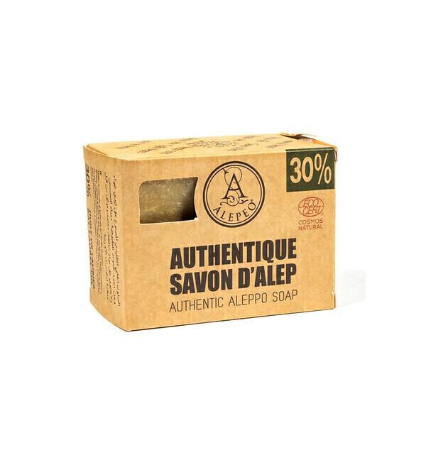 Alepeo - Savon d'Alep 200g. 30% huile de laurier, certifié Cosmos Natural