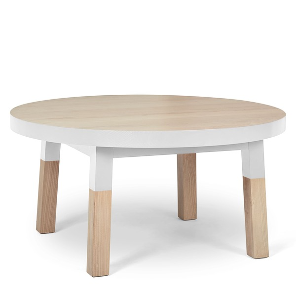 Mon petit meuble français - Table basse ronde 100% frêne massif 80x80 cm
