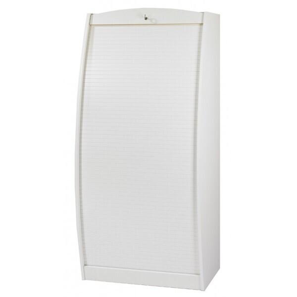 Simmob - Armoire Informatique Galbée 80 cm - Blanc