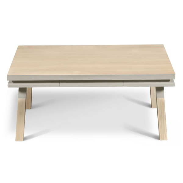 Mon petit meuble français - Table basse avec tiroir, 100% frêne massif 100x60 cm