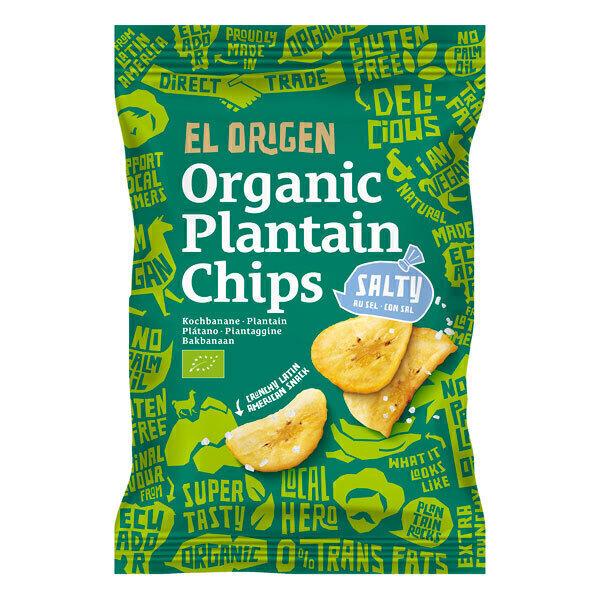 El Origen - Chips banane plantain au sel 80g