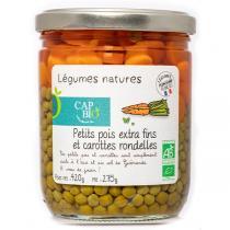 Cap Bio - Petit pois extra-fins et carottes rondelles BIO