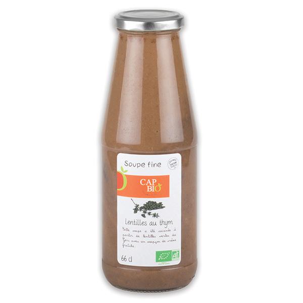 Cap Bio - Soupe Fine de Lentilles au thym BIO