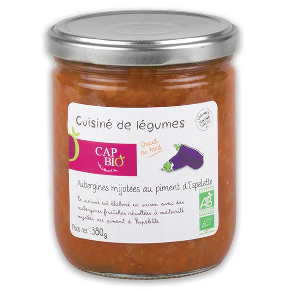 Cap Bio - Aubergines cuisinées au piment d'Espelette BIO
