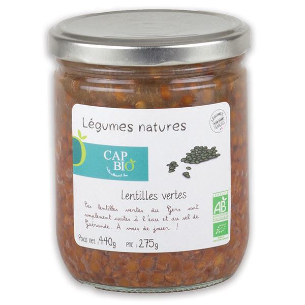 Cap Bio - Lentilles vertes au naturel BIO
