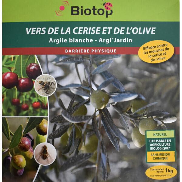 Biotop - Argile blanche - barrière ver de la cerise et de l'olive