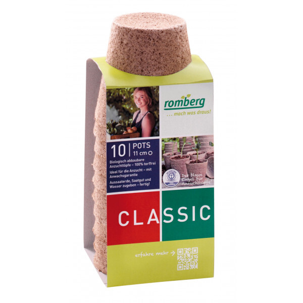 Romberg - 10 pots biodégradables 11 cm