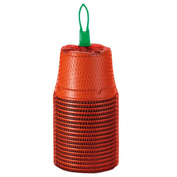 Romberg - 18 pots en plastique  9 cm rond