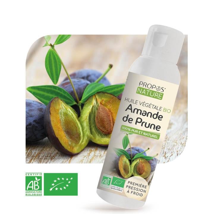 Propos'Nature - Amande de Prune BIO - Huile végétale Contenance - 100 ml