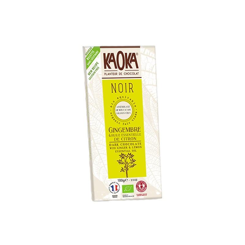 Kaoka - KAOKA - CHOCOLAT NOIR 58% - Citron Gingembre