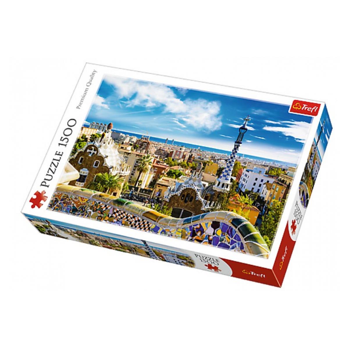Trefl - Park Guell Barcelone - puzzle de 1500 pieces