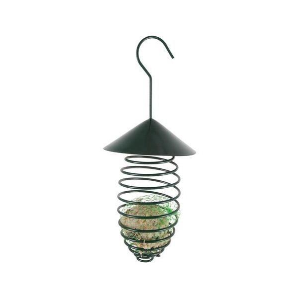 Best for birds - Spirale pour boule de graisse, vert foncé, avec toit