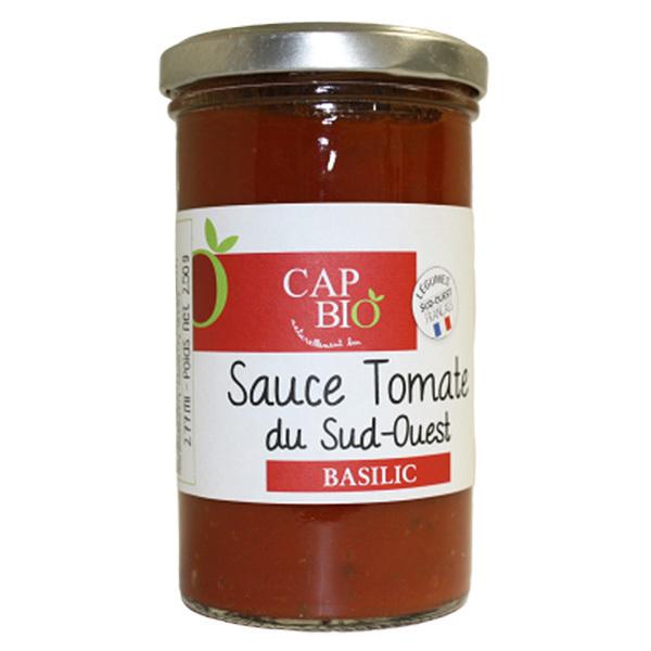 Cap Bio - Sauce Tomate au Basilic BIO Origine Sud Ouest