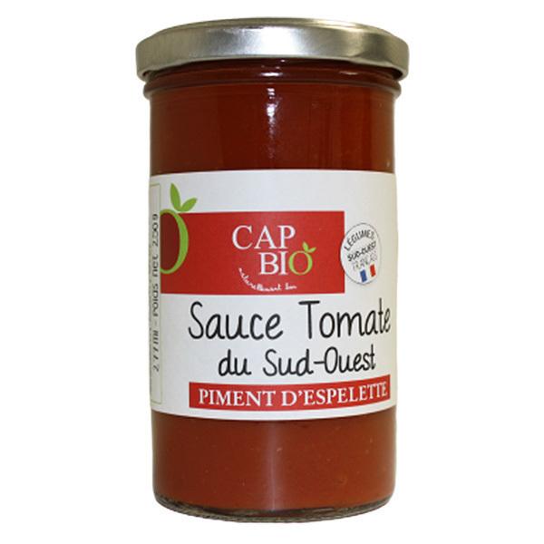 Cap Bio - Sauce Tomate au piment d'Espelette BIO Origine Sud Ouest