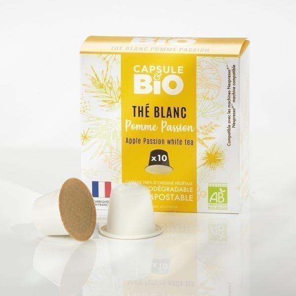 Capsul&bio - CAPSULEBIO thé vert/noir/blanc bio 10 capsules Nespresso®