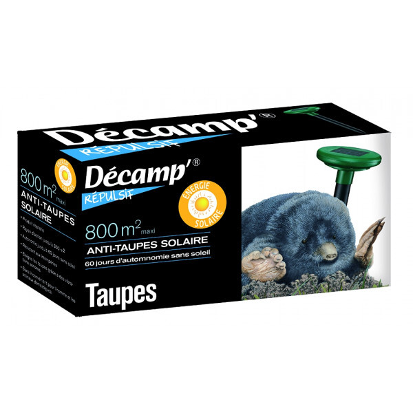 Décamp' - Anti-taupe ultrasons solaire 800 m¬≤