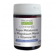 Propos'Nature - Comprimés Super Mélatonine + Magnésium marin + Vi