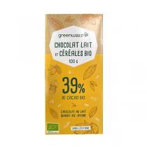 Greenweez - Chocolat lait bio 39% céréales (quinoa, riz, avoine) 100g